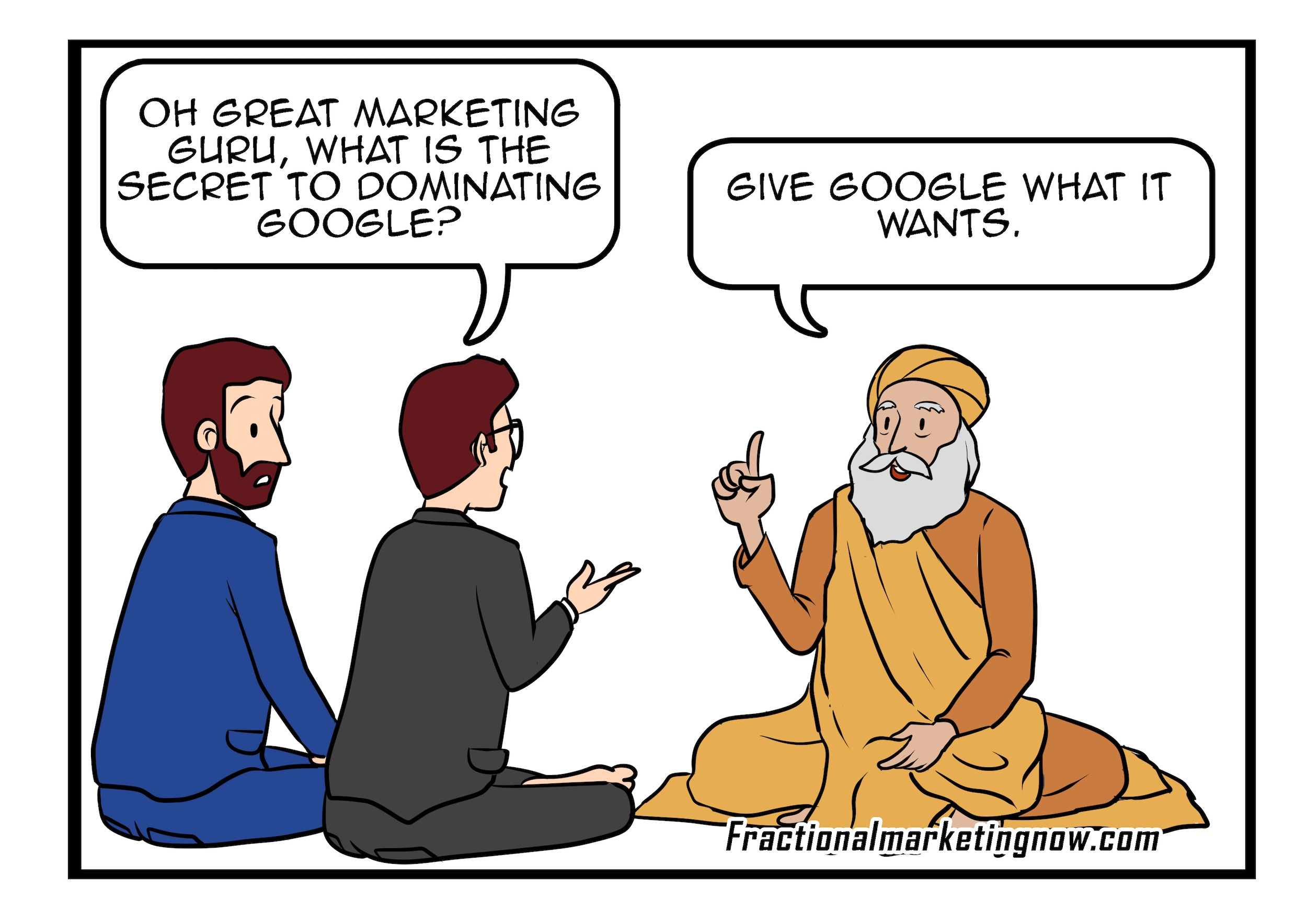Fractional Marketing Expertise – What Do We Do In Marketing To Get Google Rankings?